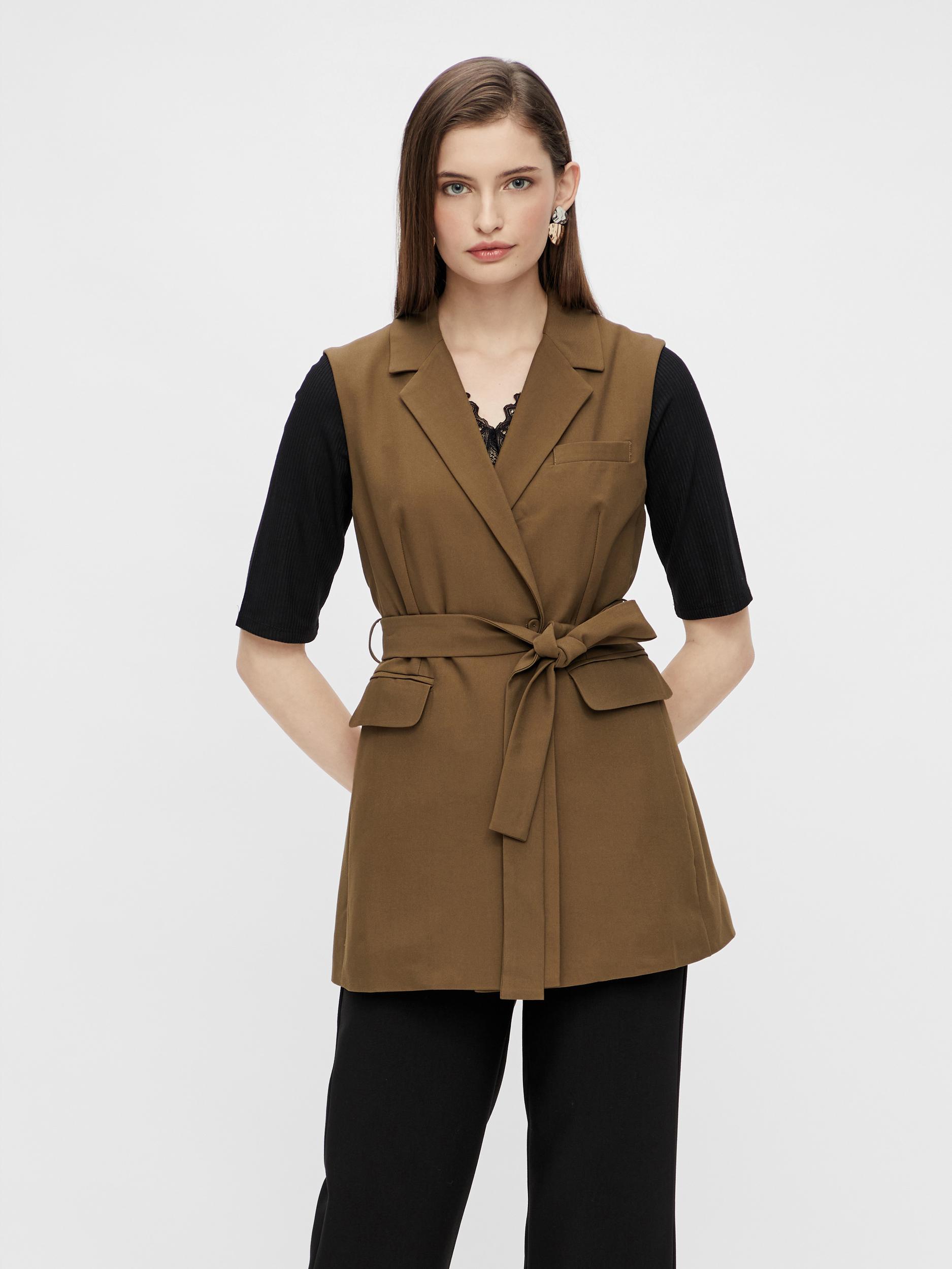 Y.A.S Carla waistcoat, beech, x-large
