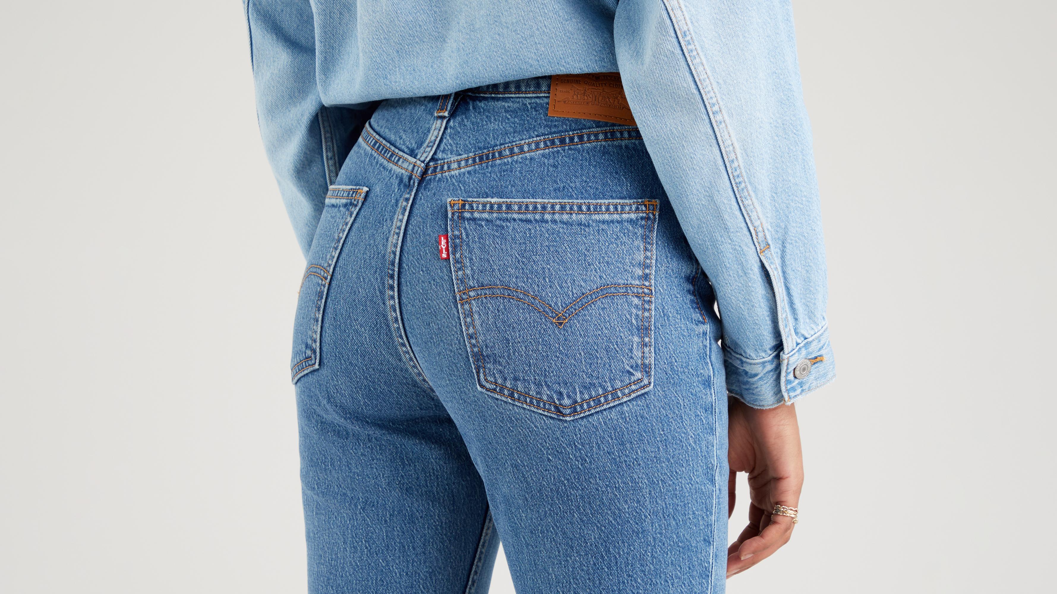 Levi's High Flare Jeans, Dark Indigo Worn, W25/L32