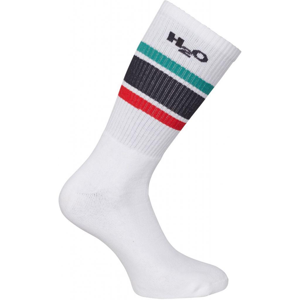 H2O Crew Sock, white/green/red/navy, 40-42