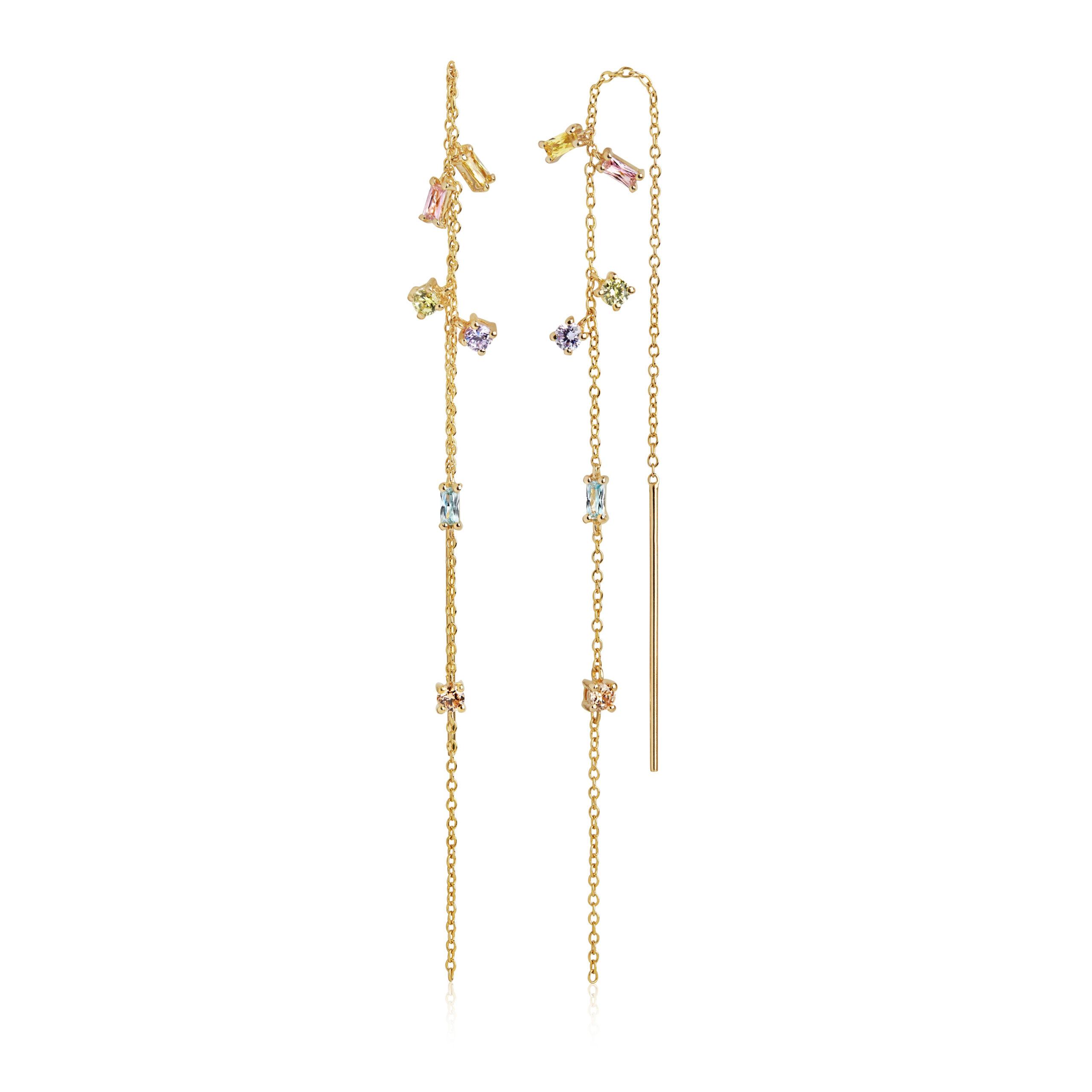 Sif Jakobs Jewellery Princess Chain øreringe, guld/multi