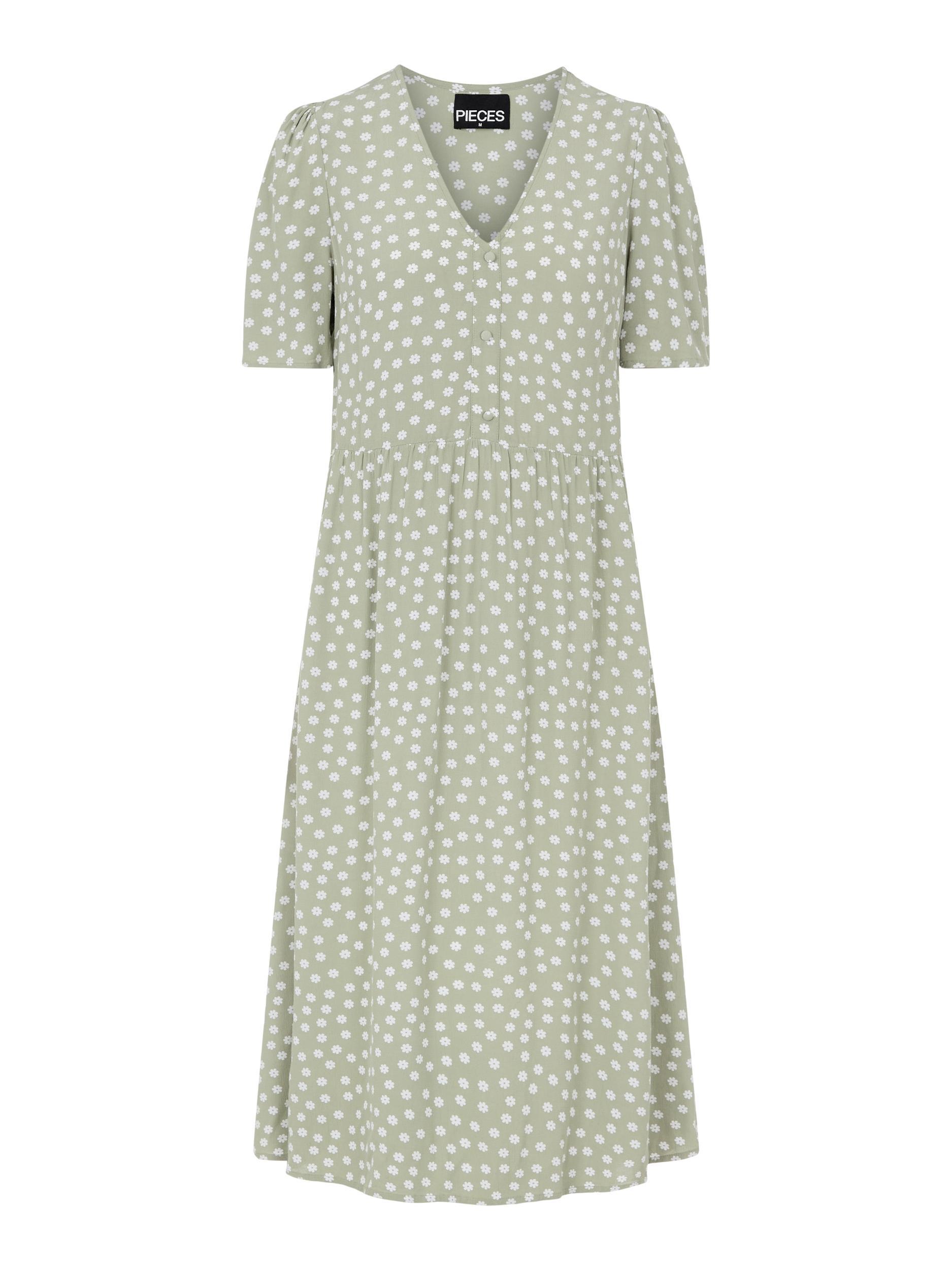 Pieces Selma kjole, desert sage, small