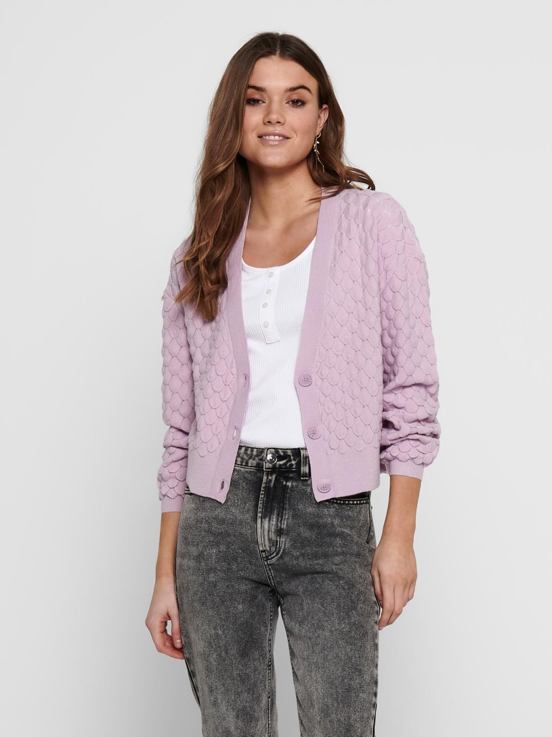 Only Gillie cardigan, orchid bloom, medium