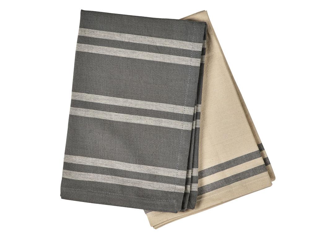 Södahl Soft viskestykke, 70x50 cm, grey, 2-pak