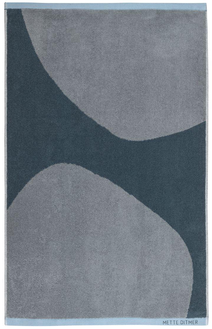 Mette Ditmer Rock håndklæde, 40x60 cm, slate blue