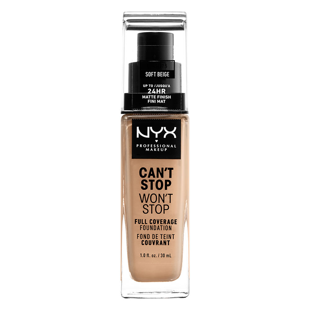 NYX Professional Makeup Cant Stop Wont Stop 24-Hours Foundation, soft beige