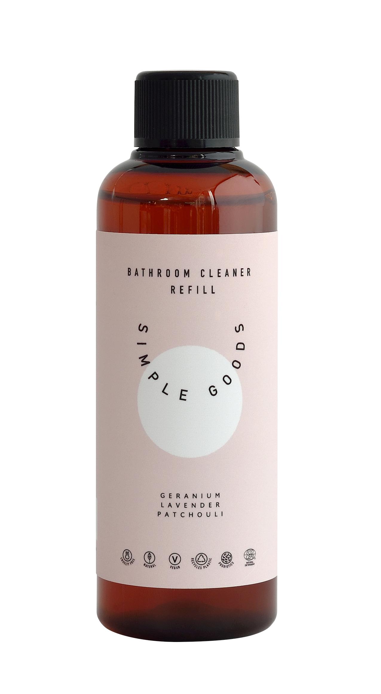 Simple Goods Bathroom rengøringsmiddel, geranium/lavendel/patchouli, refill