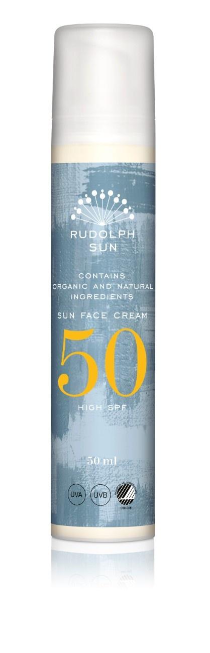 Rudolph Care Sun Face Cream, SPF 50, 50 ml