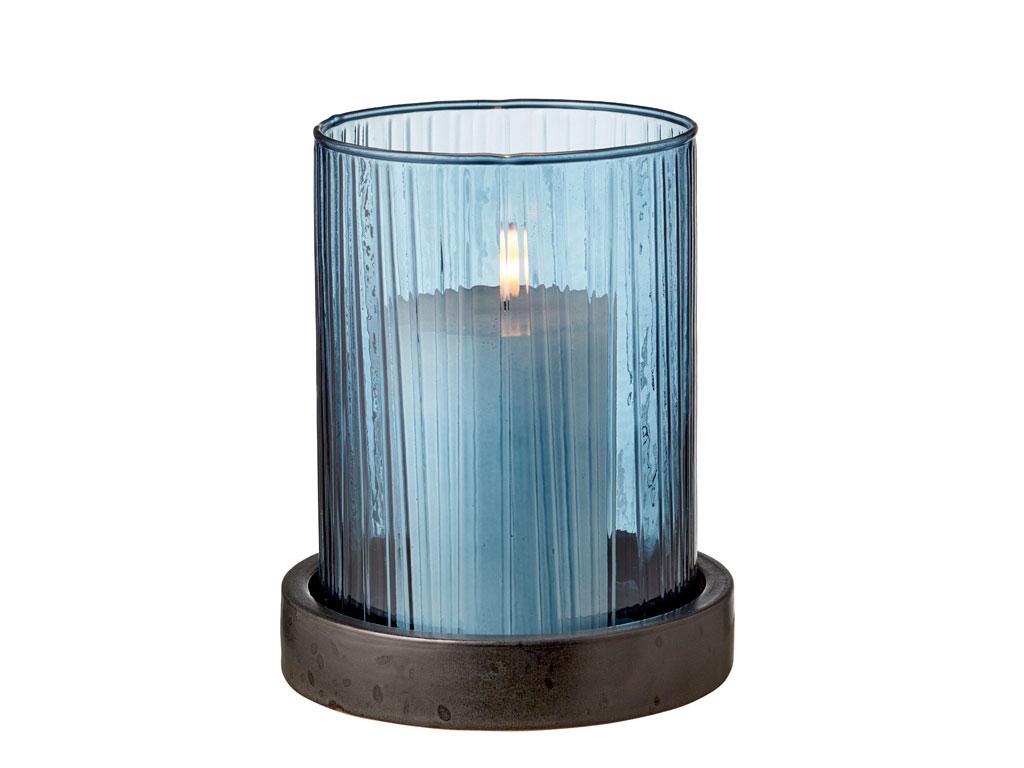 Bitz hurricane med LED, 17 cm, blå