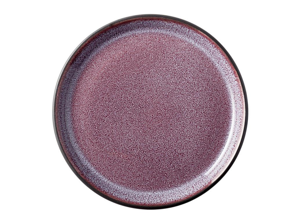 Bitz Gastro tallerken, Ø17 cm, sort/lilla