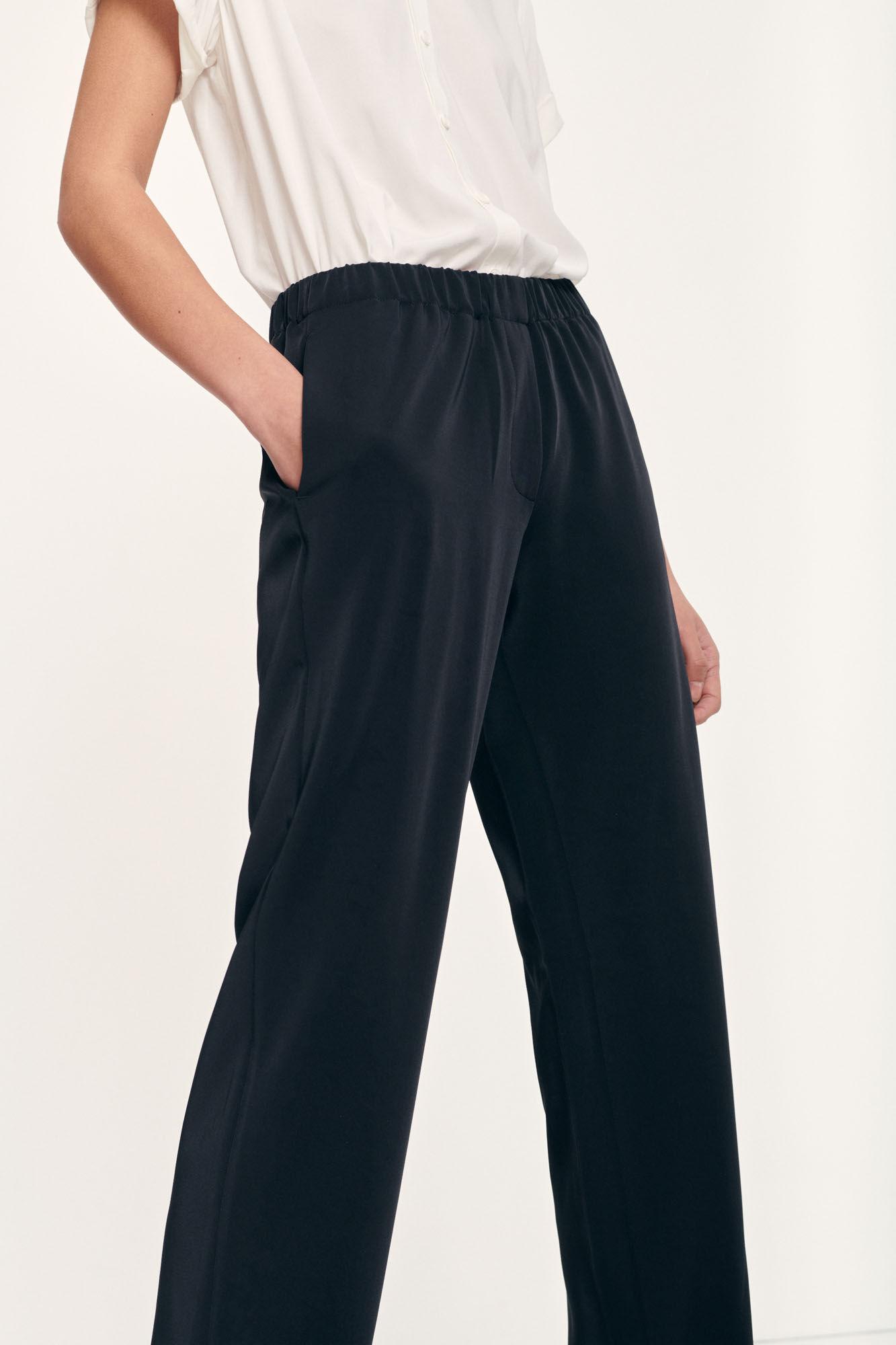 Samsøe Samsøe Hoys 7331 straight pants, black, medium