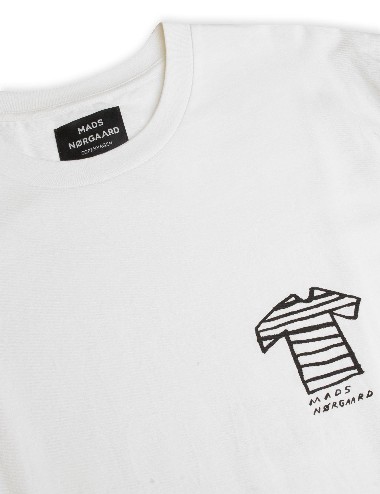 Mads Nørgaard Organic Twin Kozak t-shirt, marshmallow, medium