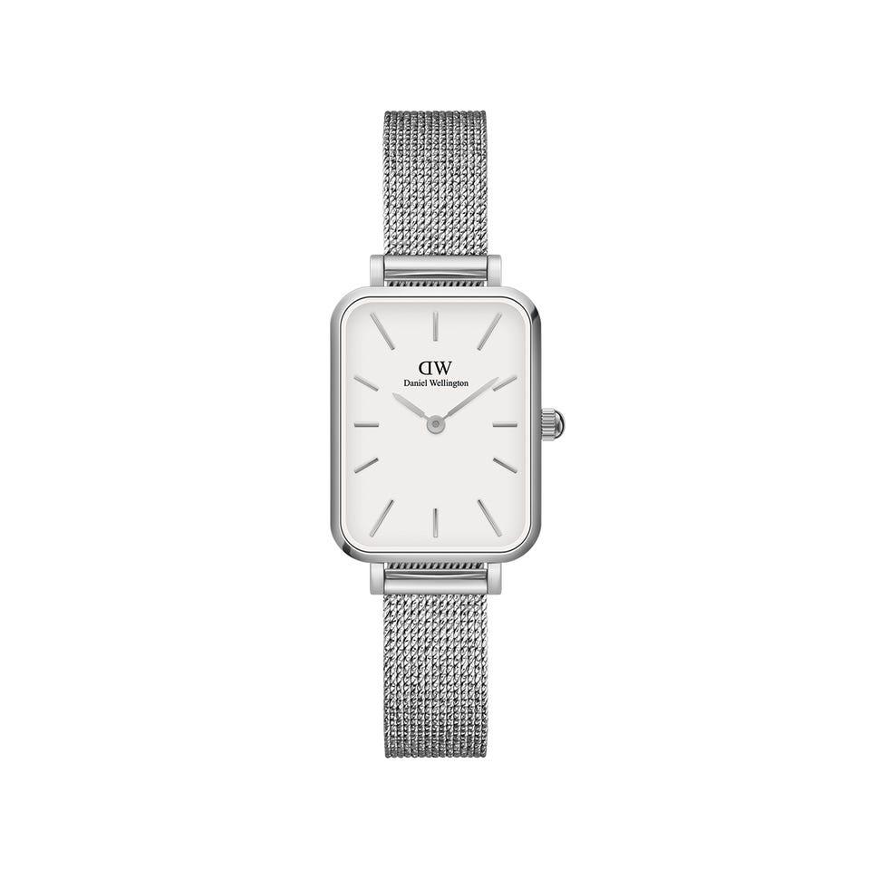 Daniel Wellington Quadro Pressed Sterling ur, silver/white, 32 mm