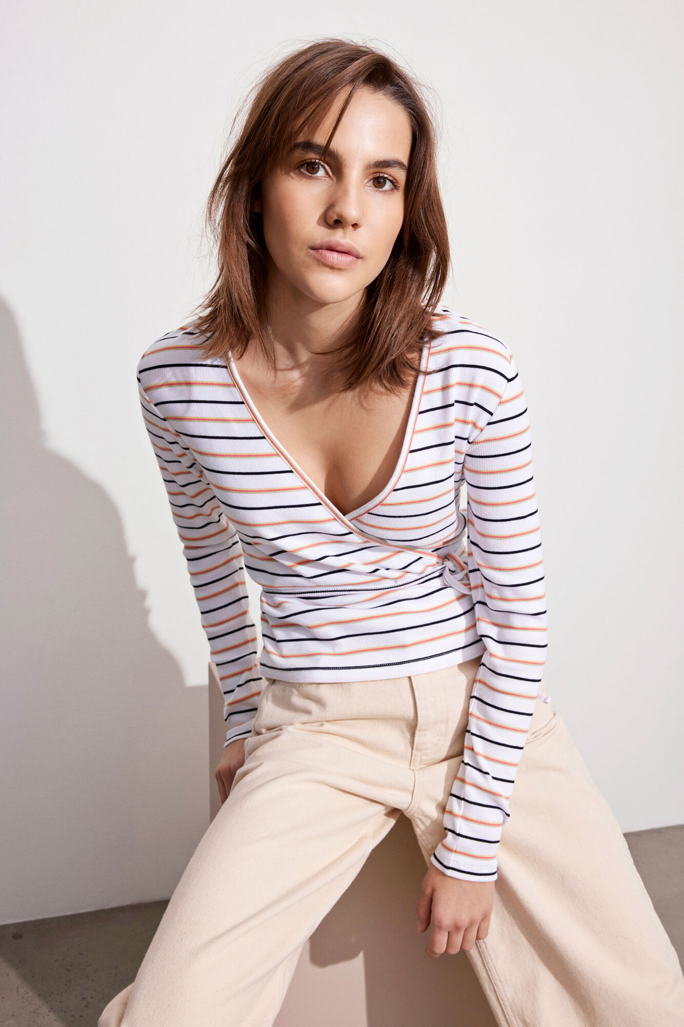 Envii Ally LS t-shirt, sorbet stripe, small