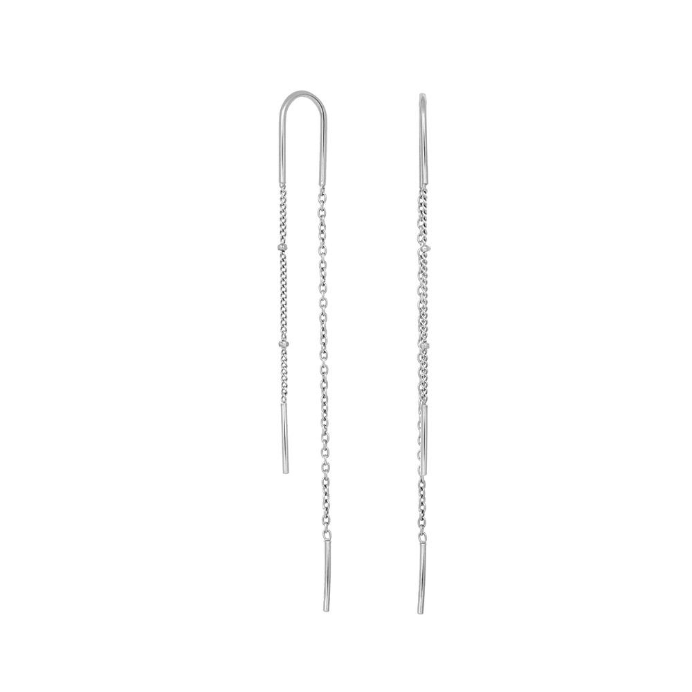 Nordahl Line øreringe, sølv