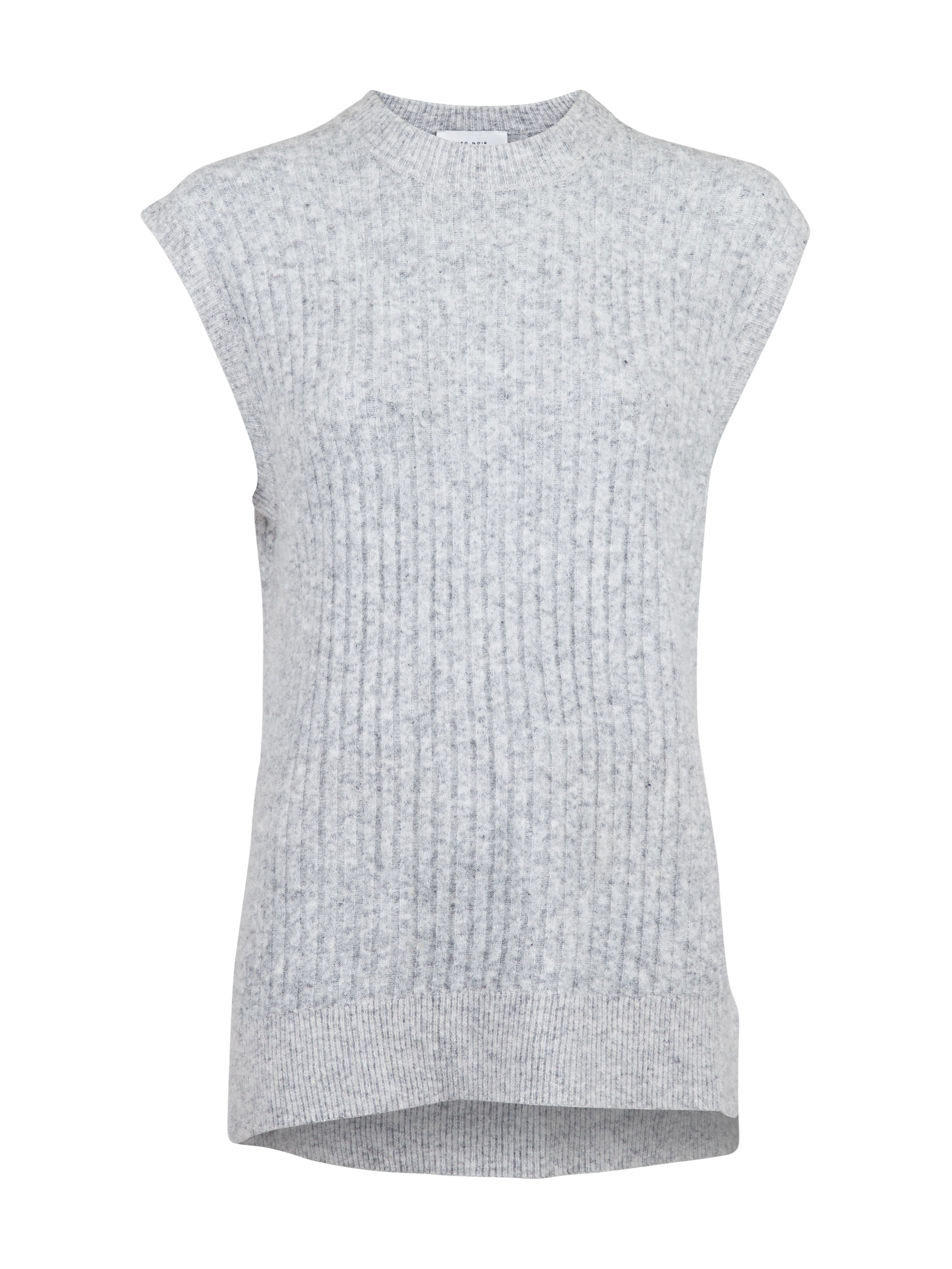 Neo Noir Natascha Knit waistcoat, light grey, large