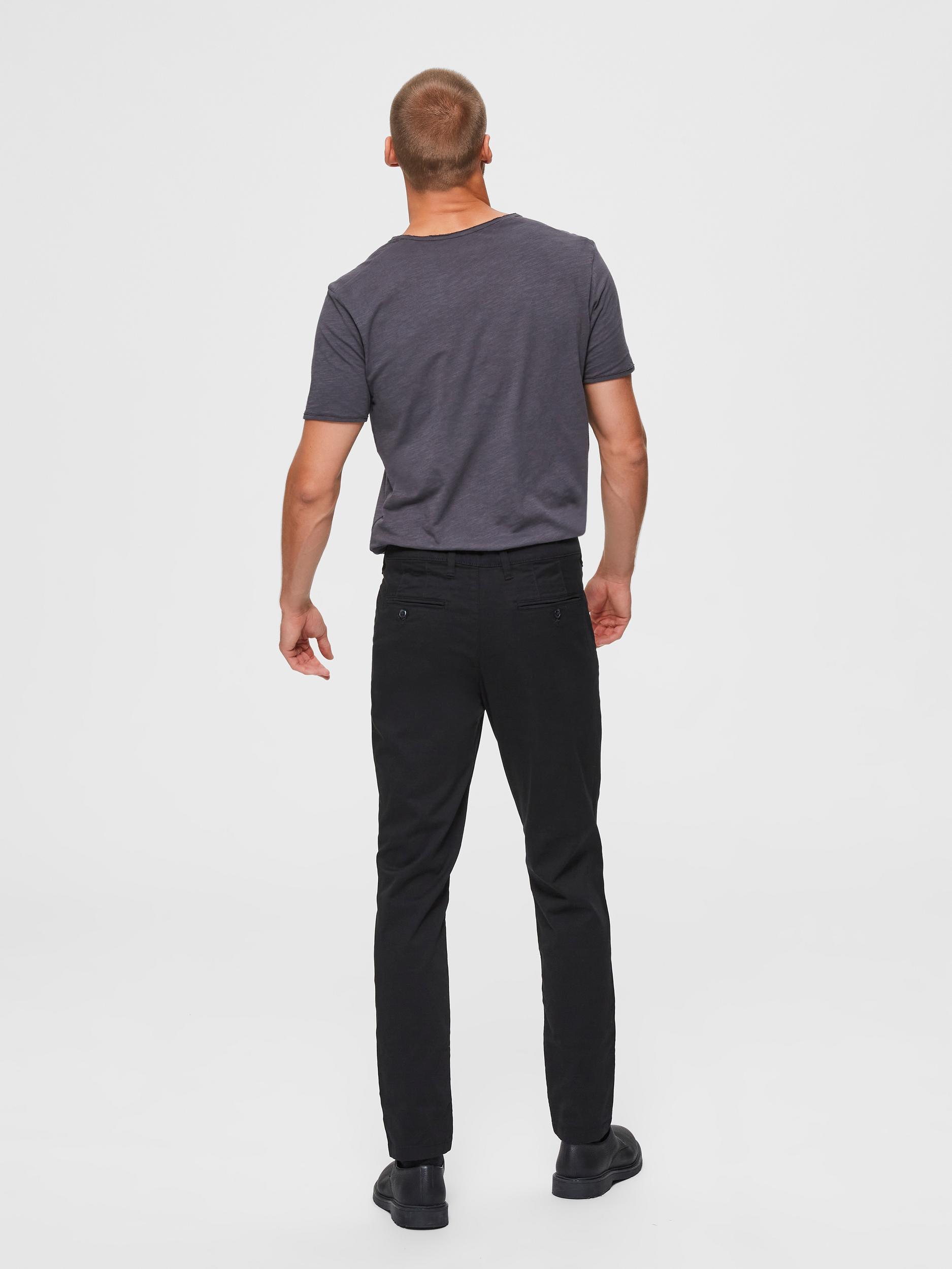 Selected Homme Miles Slim Flex chinos, black, 33/32