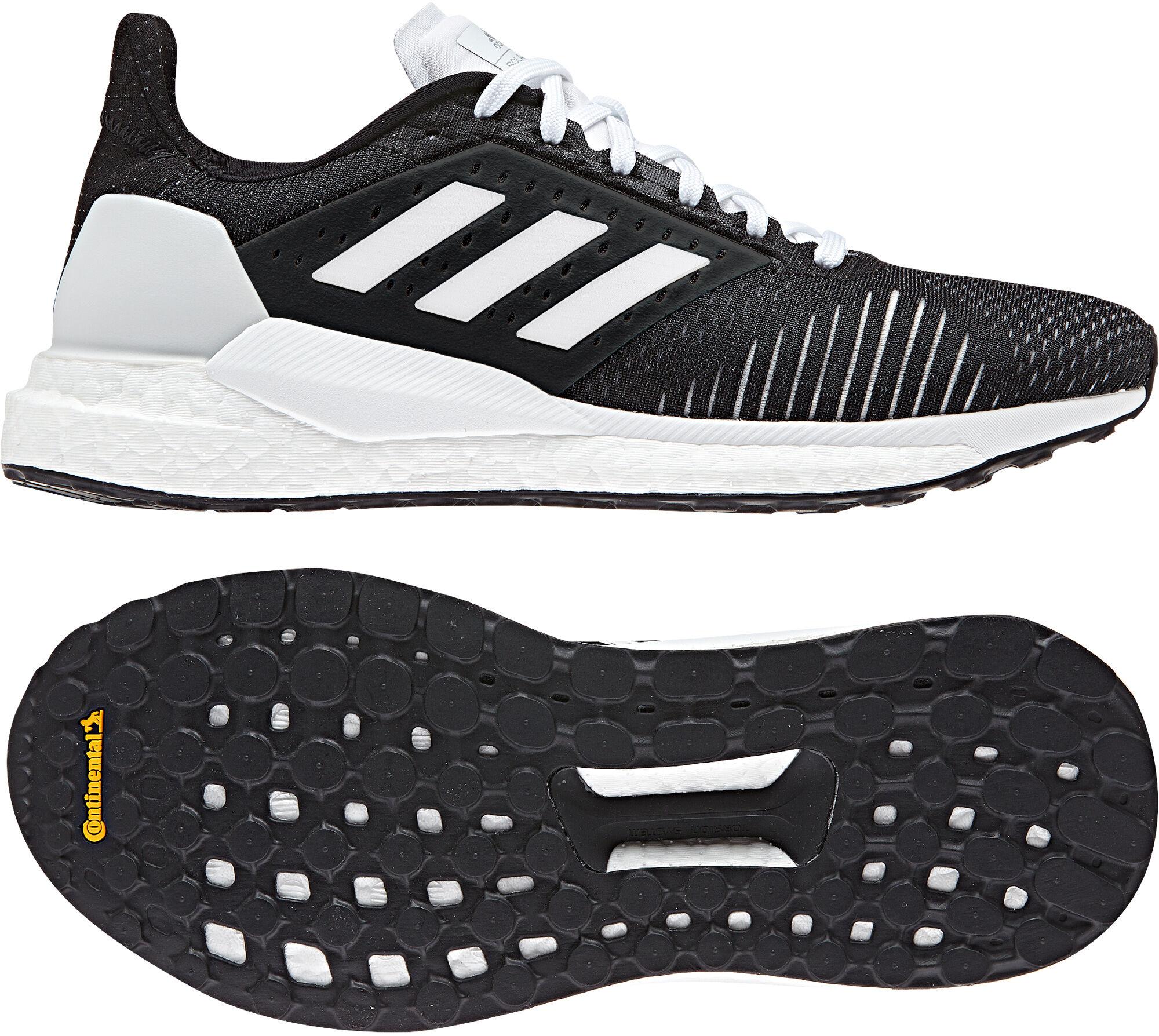 Adidas Solar Glide ST sko, black/white/silver, 42