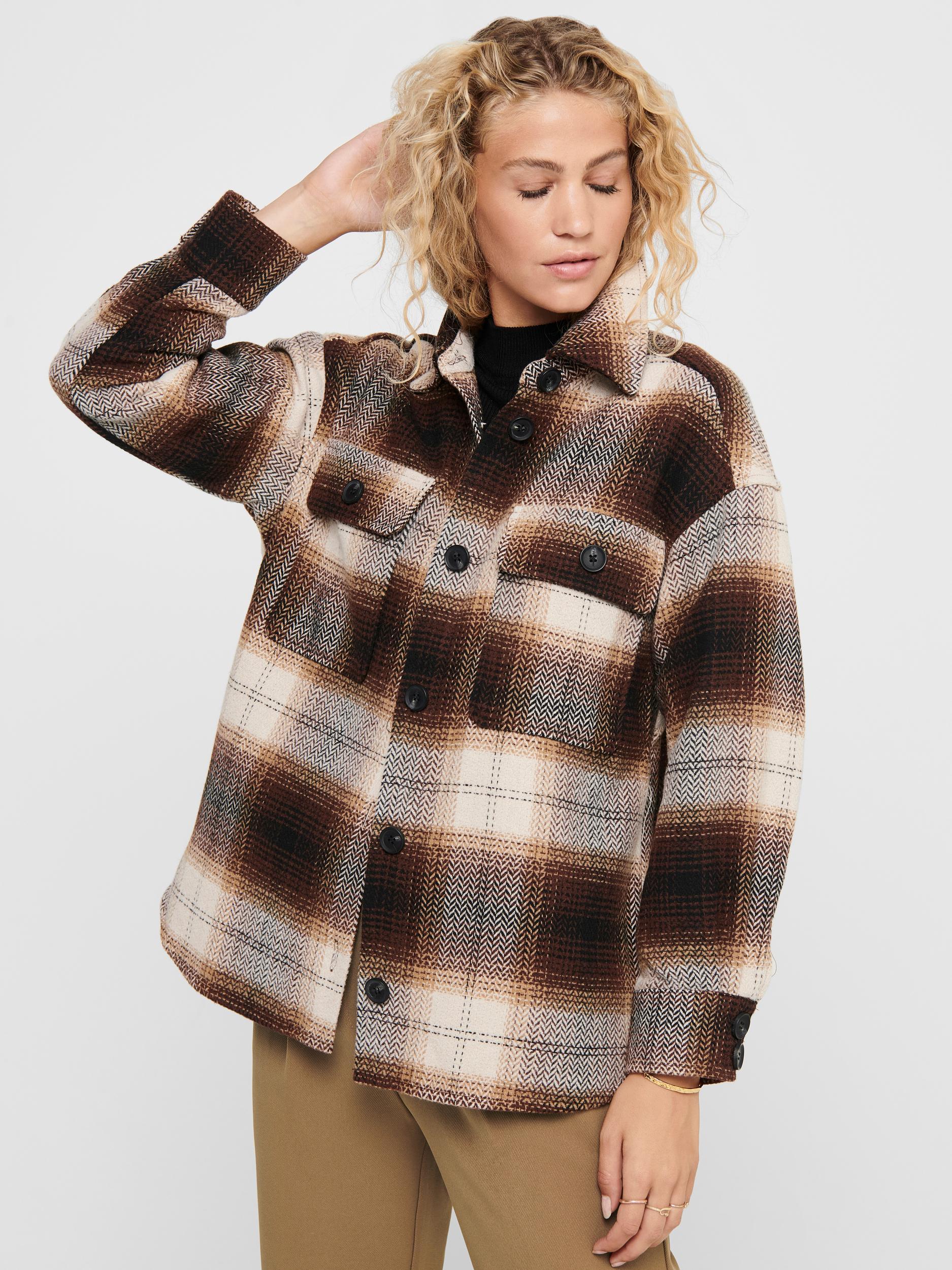 Jacqueline de Yong Toby skjortejakke, chicory coffee, x-small