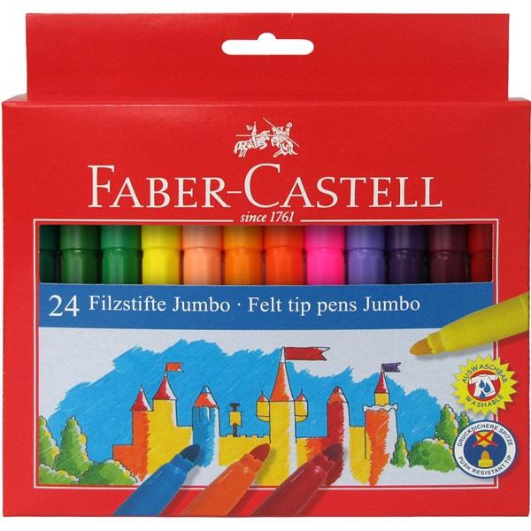 Faber-Castell Fibre-tip Jumbo tusser, 24 stk.