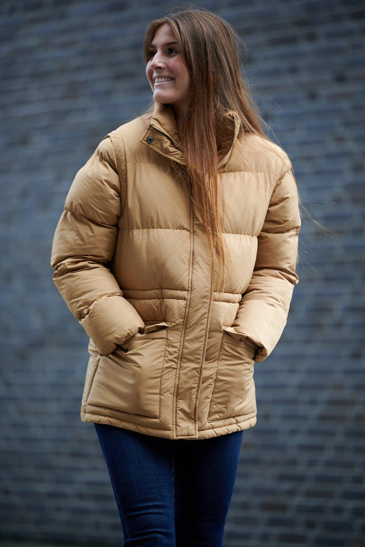 Noella Emilia Puffer Jakke, Camel, XL