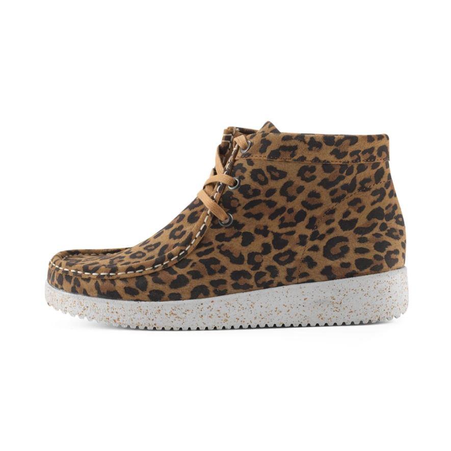 Nature Footwear Emma Suede støvle, leopard, 36