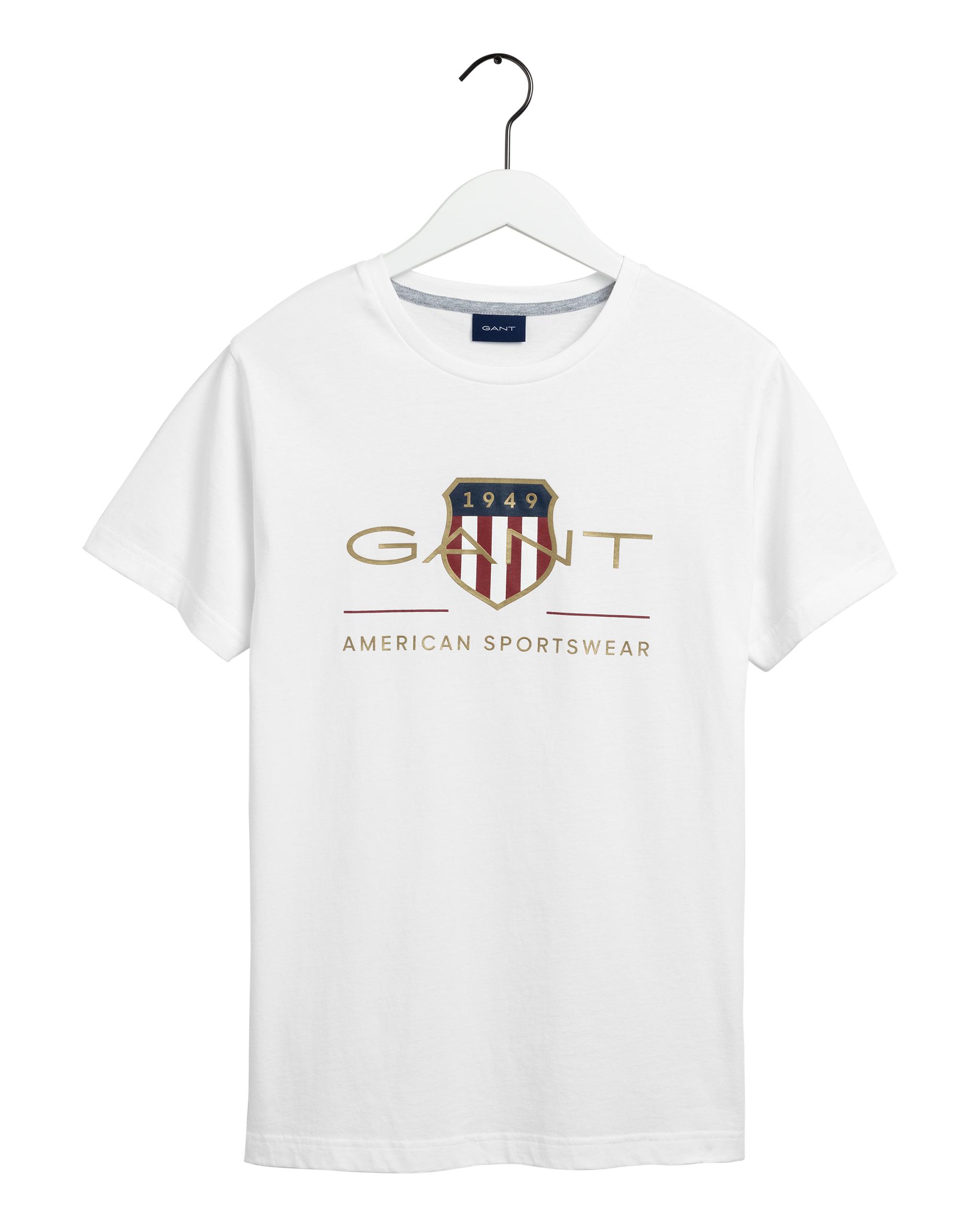 Gant Archive Shield t-shirt, white, xxx-large