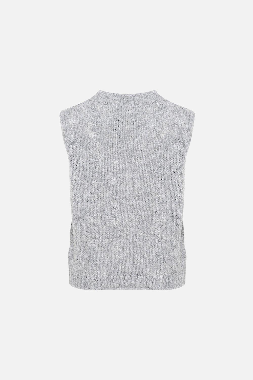 Noella Kala vest, light grey melange, x-small/small