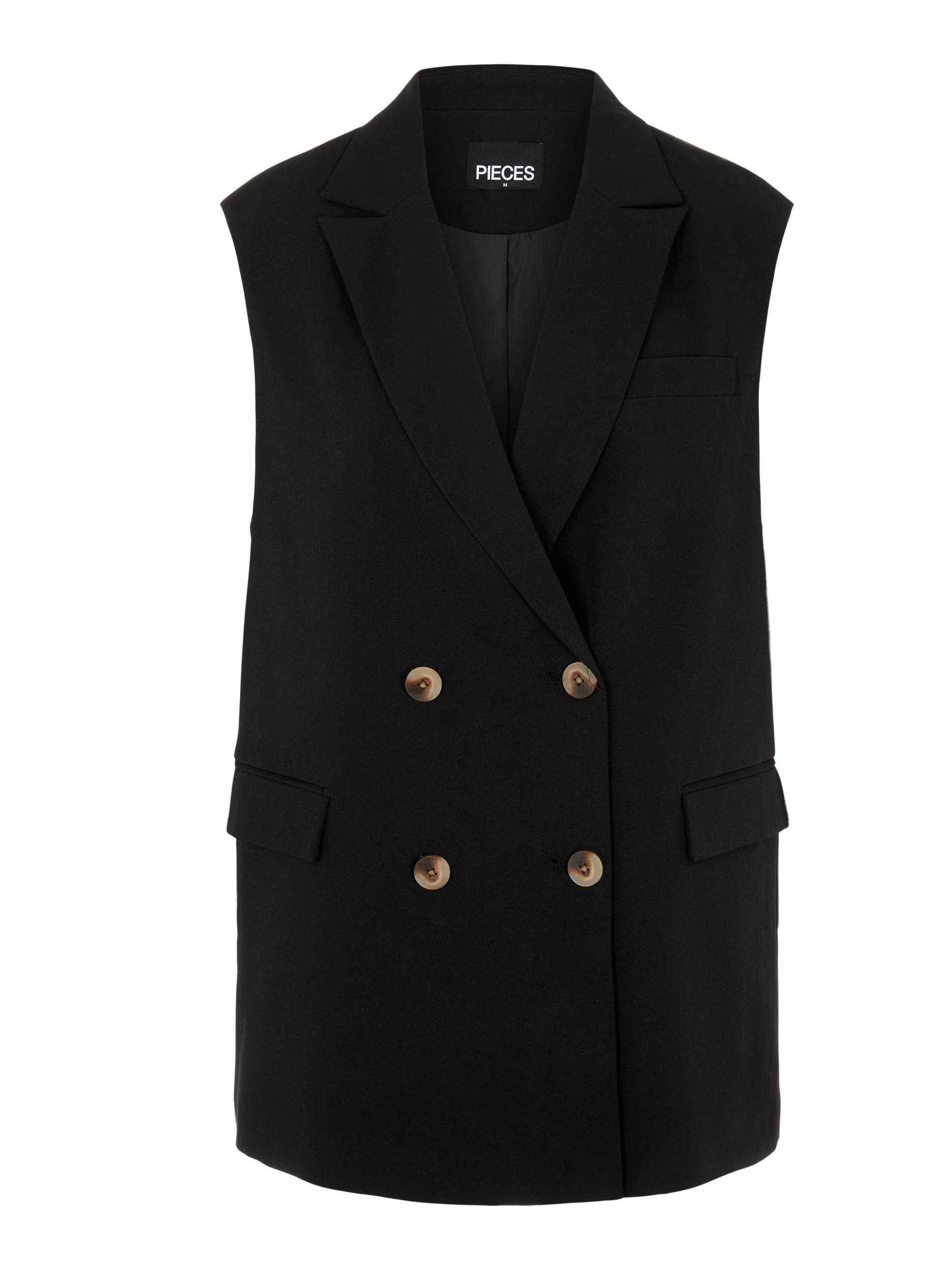 Pieces Monna vest, black, small