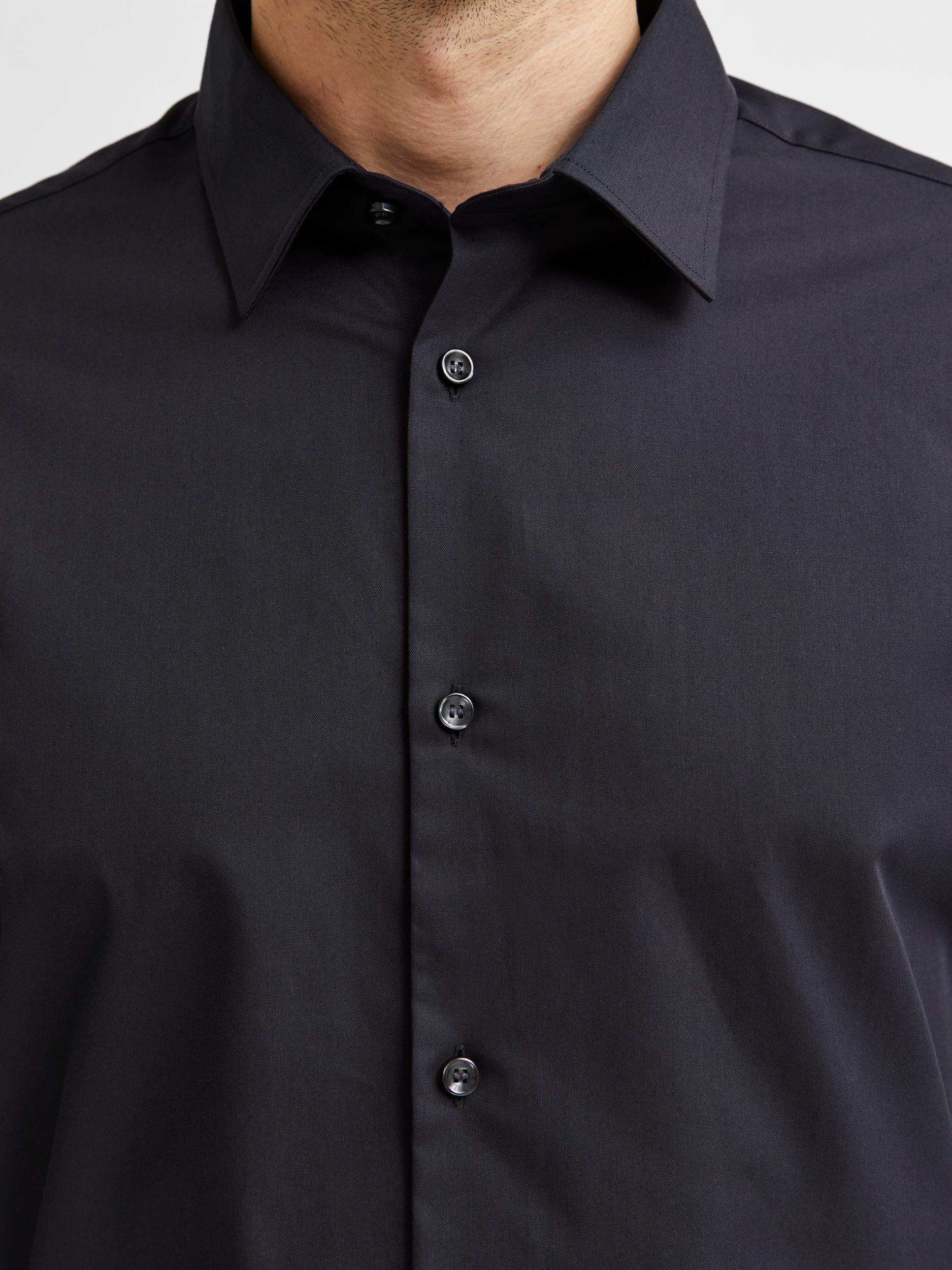 Selected Homme Slim Ethan skjorte, black, medium
