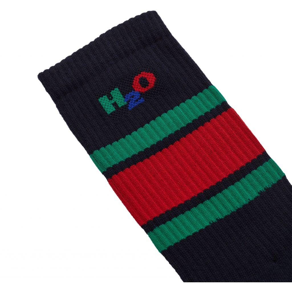 H2O Crew Sock, navy/green/red, 40-42