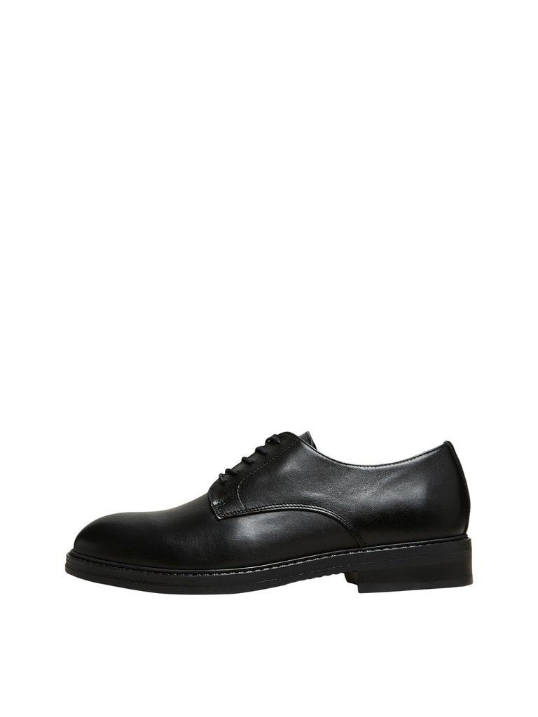 Selected Derby sko, sort, 46