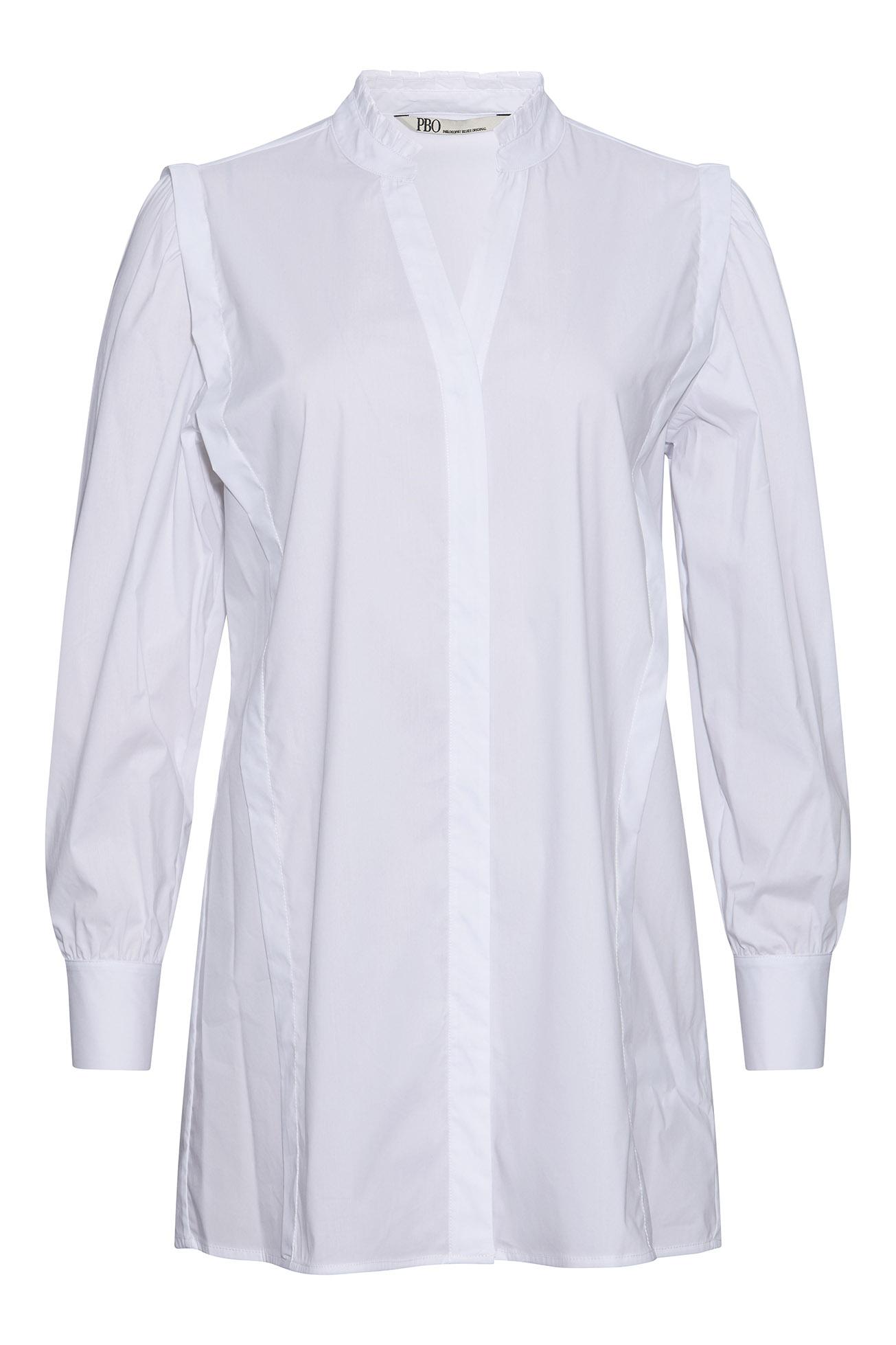 PBO Marlon lang skjorte, white, 34