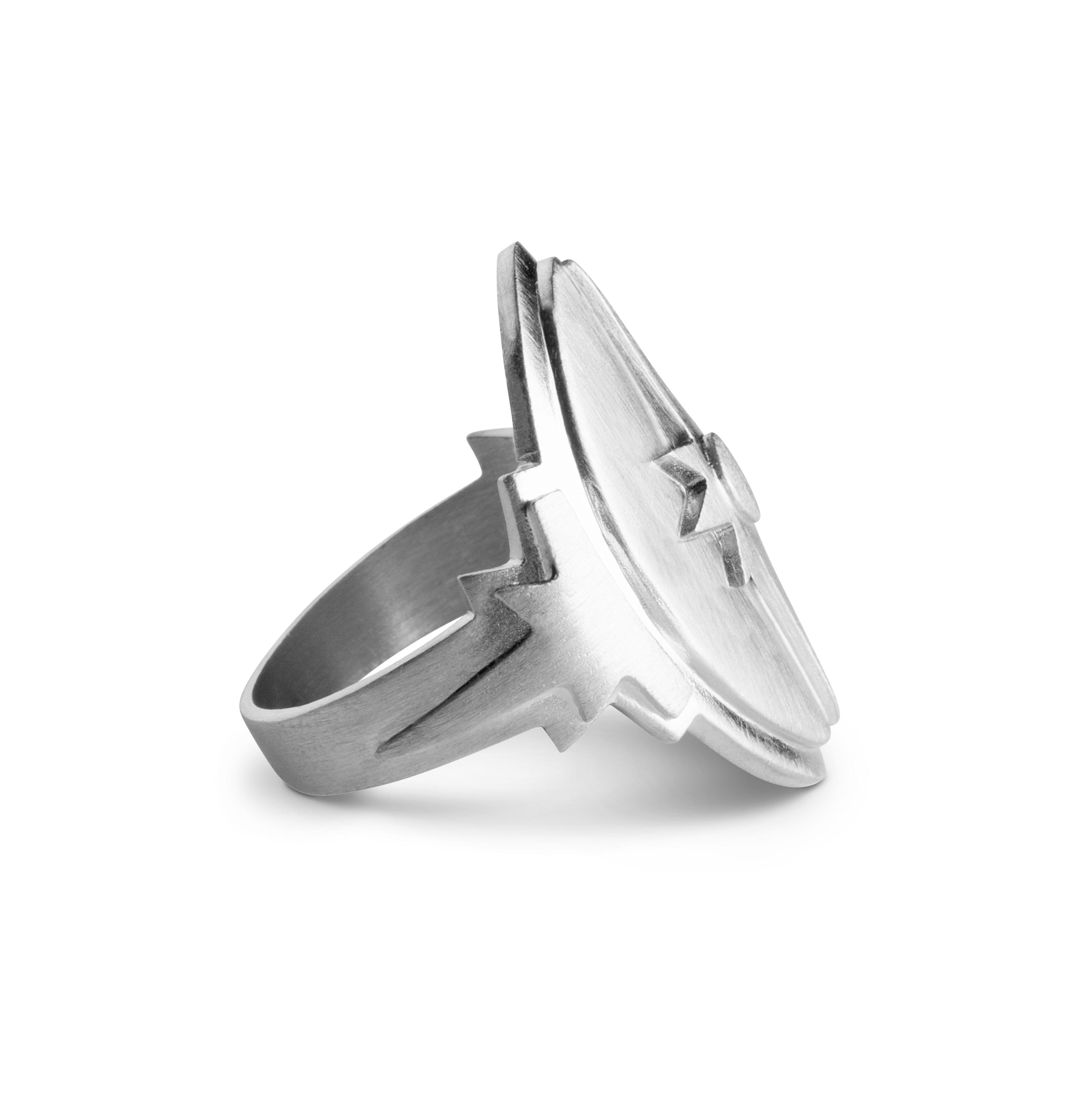 Jane Kønig Shield ring, sølv, 50