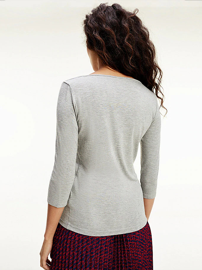 Tommy Hilfiger Boat Neck t-shirt, light grey heather, x-large