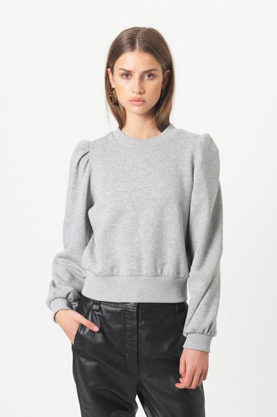 Second Female Carmella sweatshirt, light grey melange, large