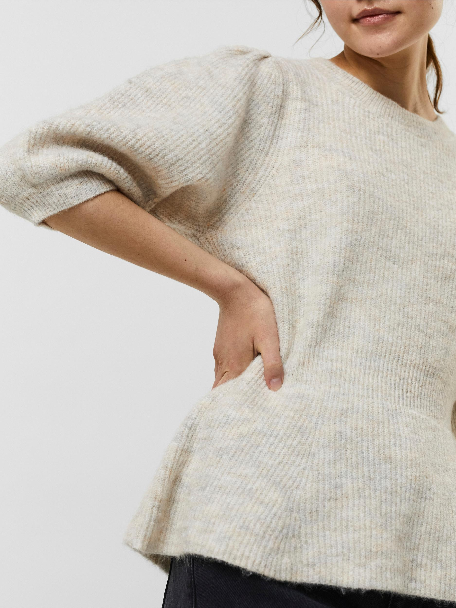 Vero Moda Mette strikbluse, birch, small