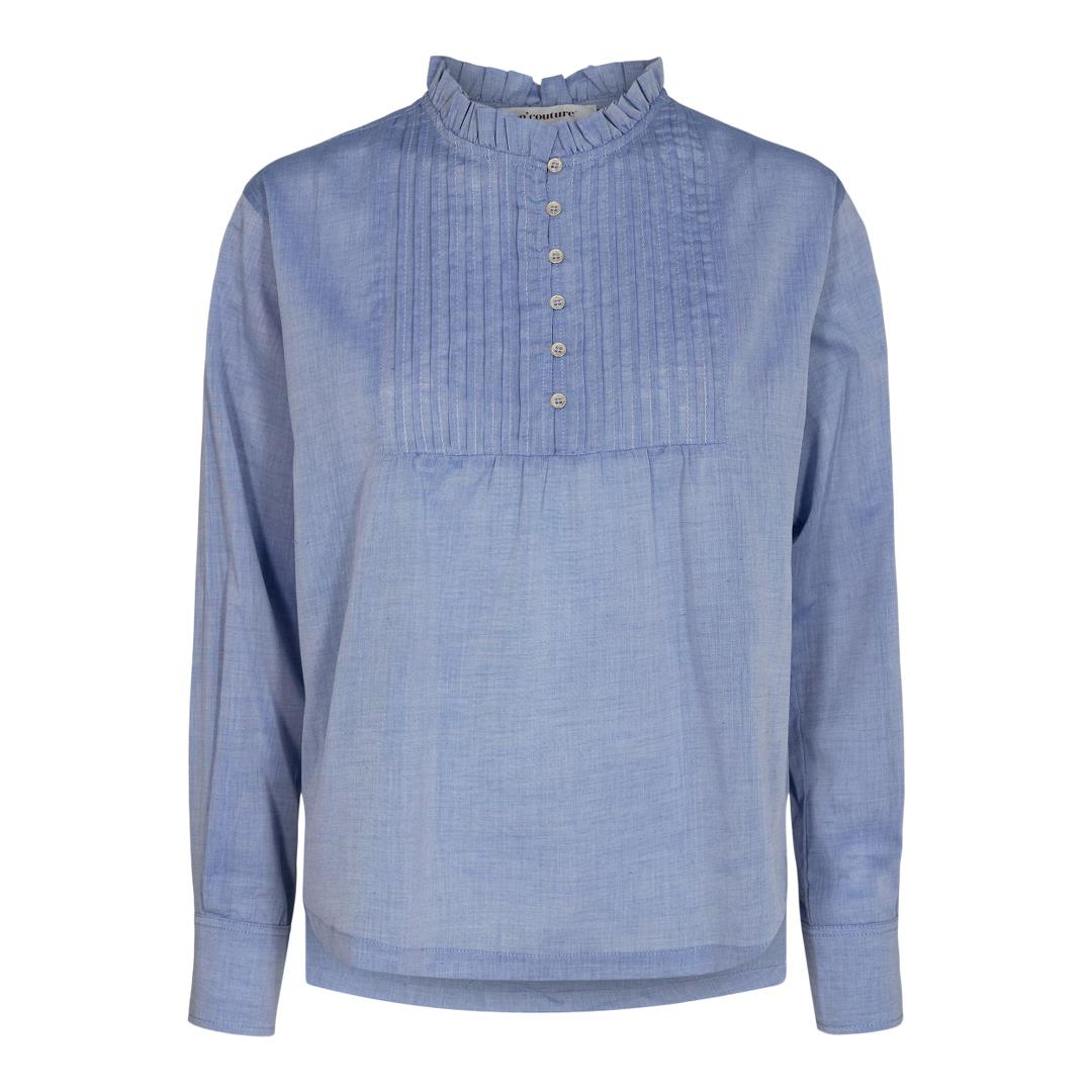 Co'Couture Sissa Pintuck bluse, sky blue, large