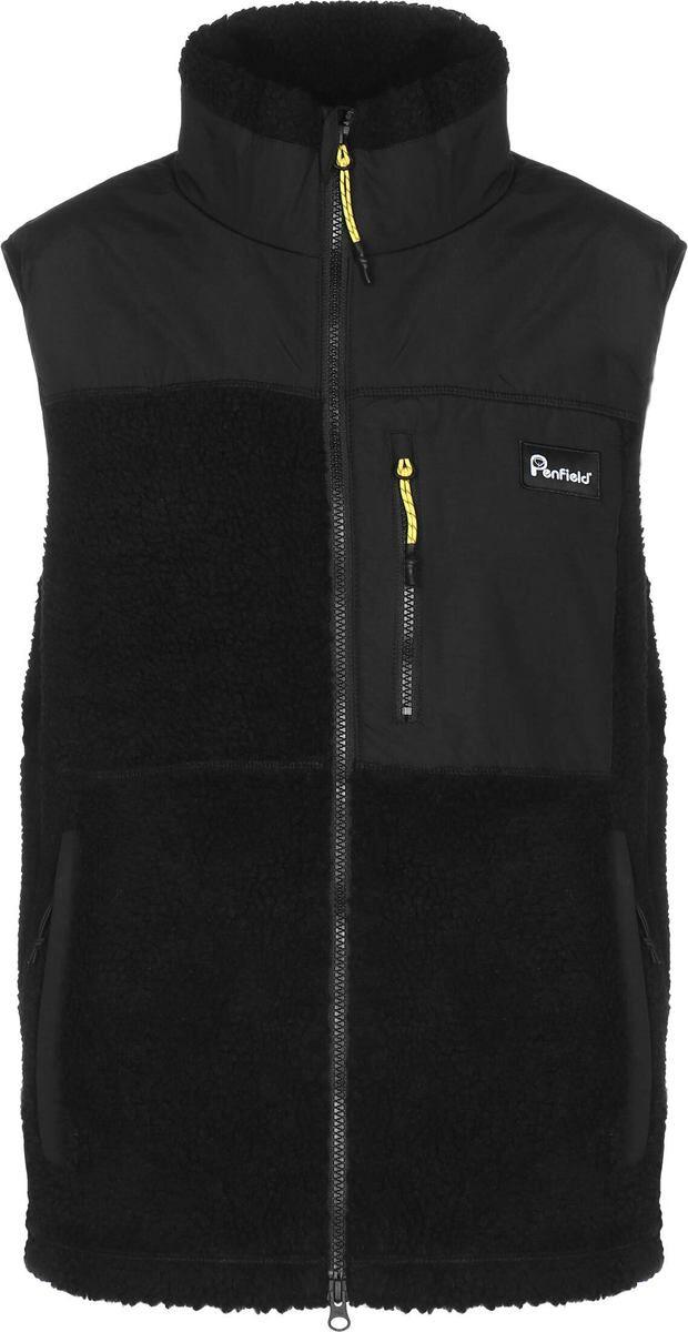 Penfield Waterford fleece vest, black, medium