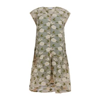 Coster Copenhagen Light Jacquard kjole, green flower jacquard, 42