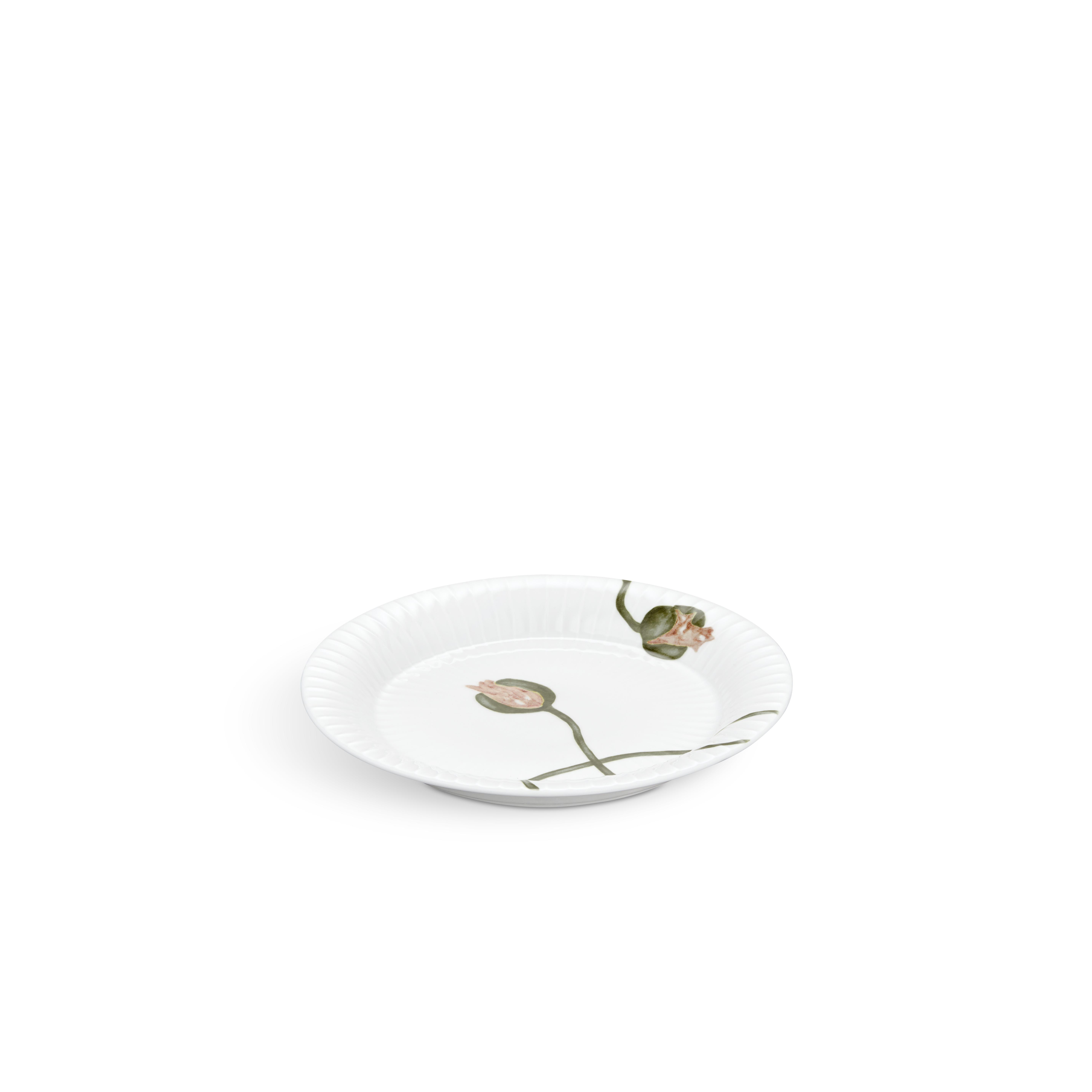Kähler Hammershøi Poppy desserttallerken, Ø19 cm, hvid