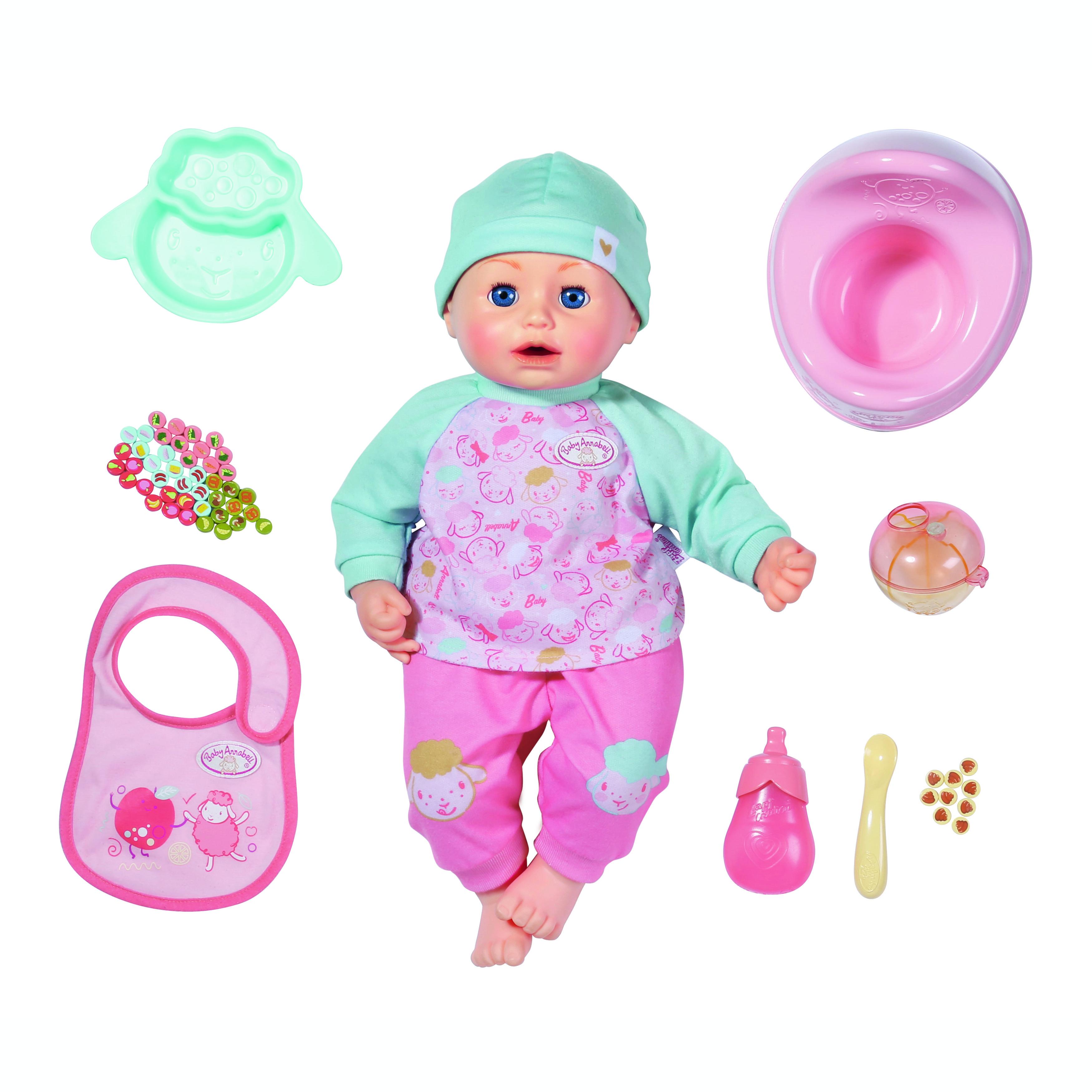 Baby Annabell Dukke med frokostsæt, 43 cm