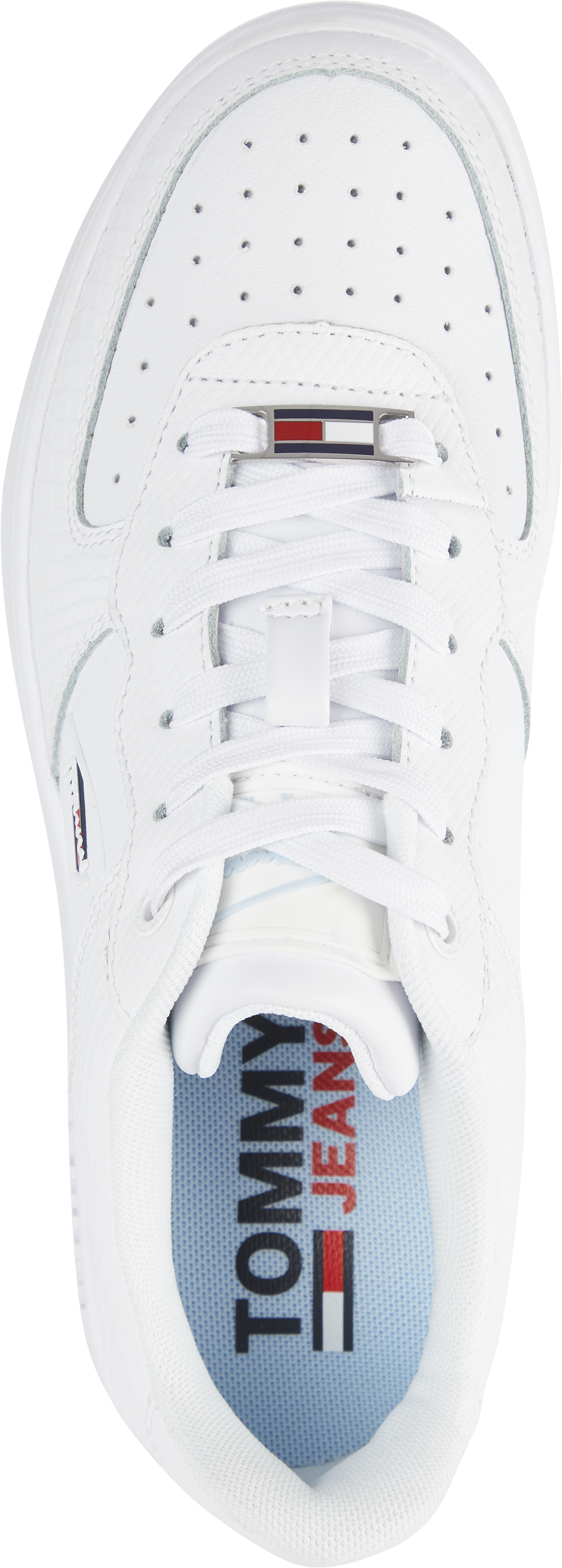 Tommy Hilfiger Textured Leather sneakers, white, 38