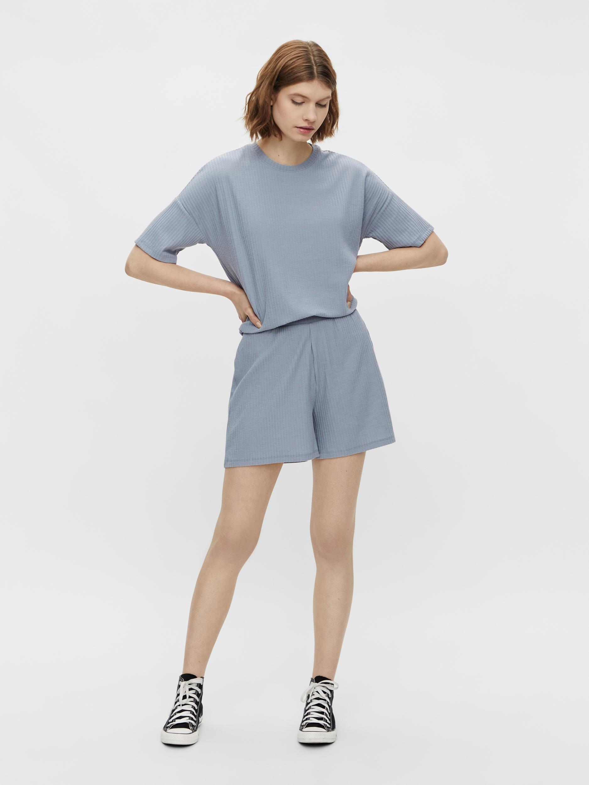 Pieces Ribbi shorts, blue fog, x-small
