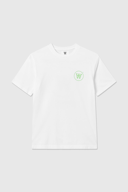 Wood Wood Ace t-shirt, white/green, medium