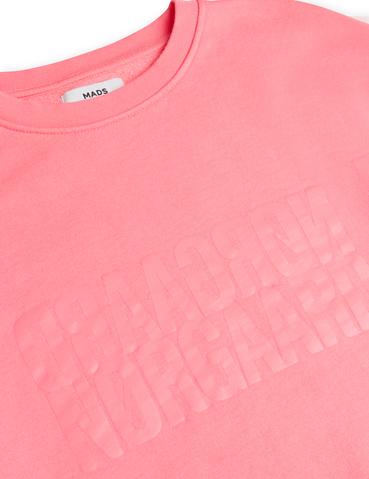Mads Nørgaard Tilvina sweatshirt, strawberry pink, x-small