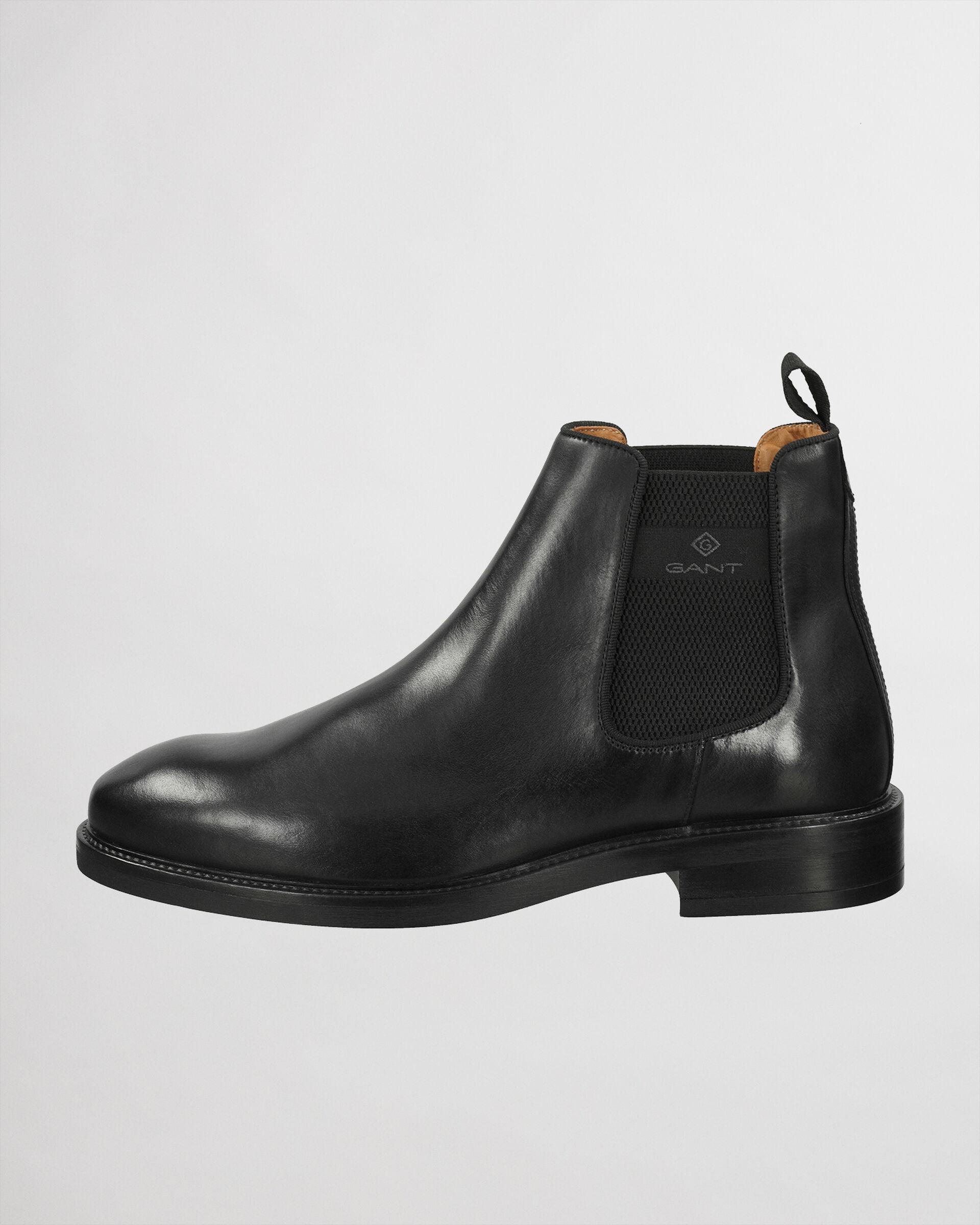 Gant Chelsea Læderstøvler, Sort, 45