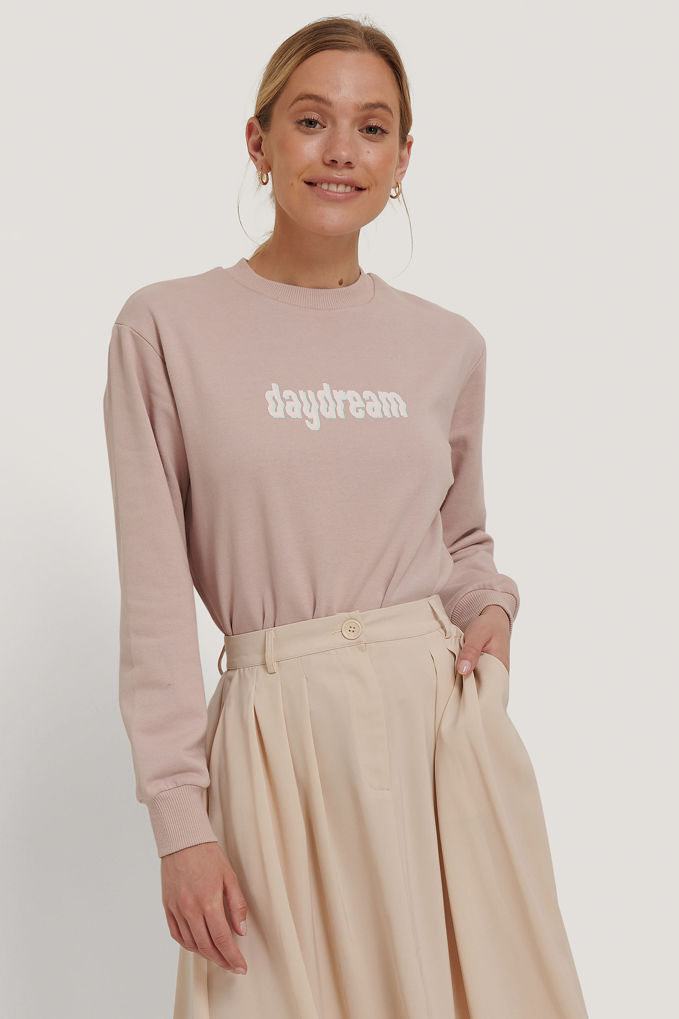 NA-KD Sweatshirt m. tryk