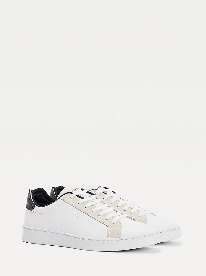 Tommy Hilfiger Leather Cupsole Court sneakers, ivory, 43