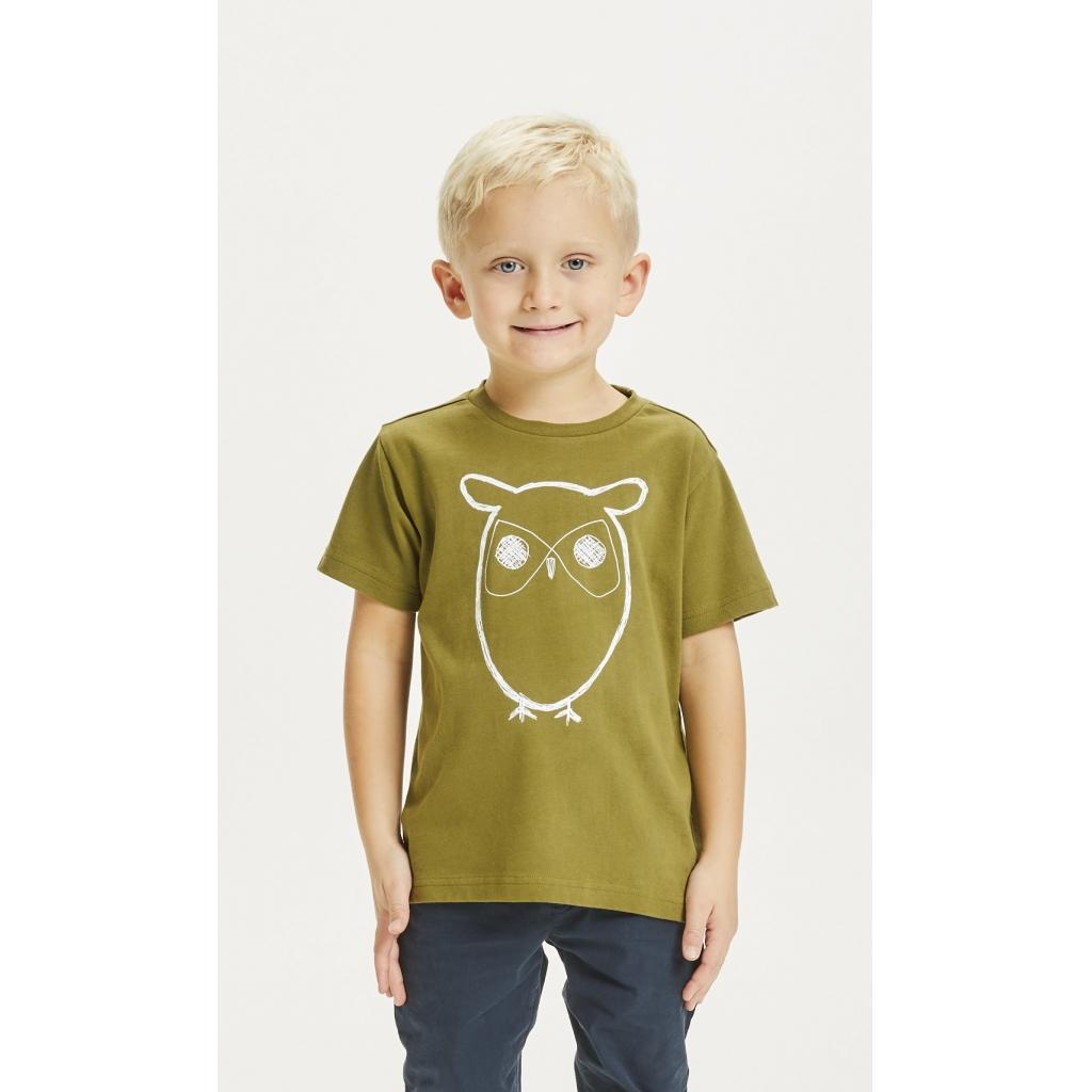 KnowledgeCottonApparel owl t-shirt, forrest night, 110-116