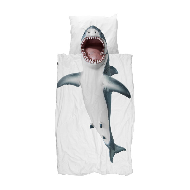SNURK sengetøj, Haj, 140x200 cm